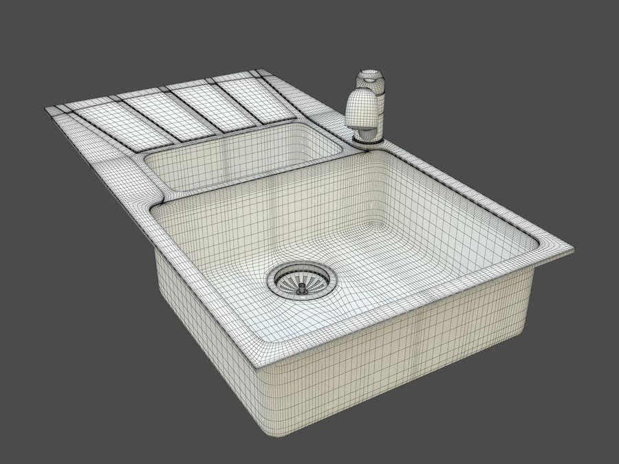 Évier avec robinet royalty-free 3d model - Preview no. 9