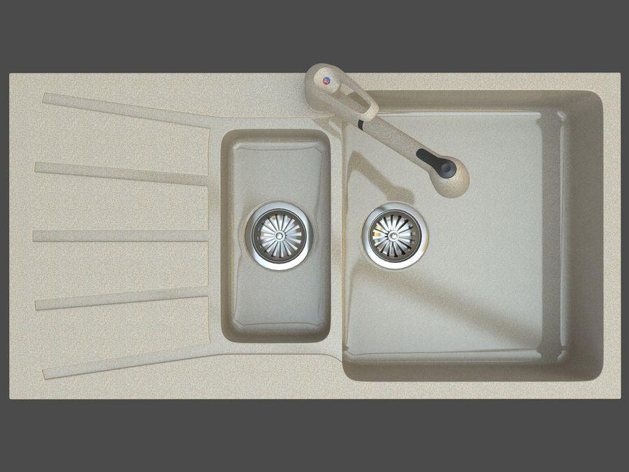 Évier avec robinet royalty-free 3d model - Preview no. 5