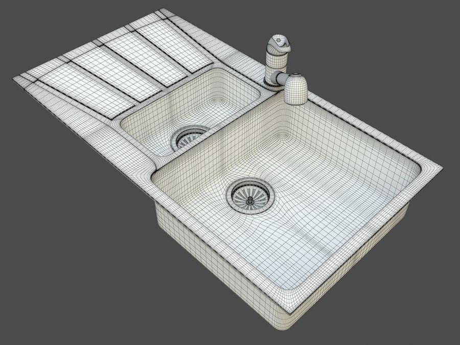 Évier avec robinet royalty-free 3d model - Preview no. 6