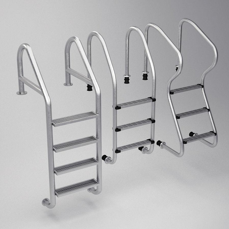 Escaleras de piscina royalty-free modelo 3d - Preview no. 2