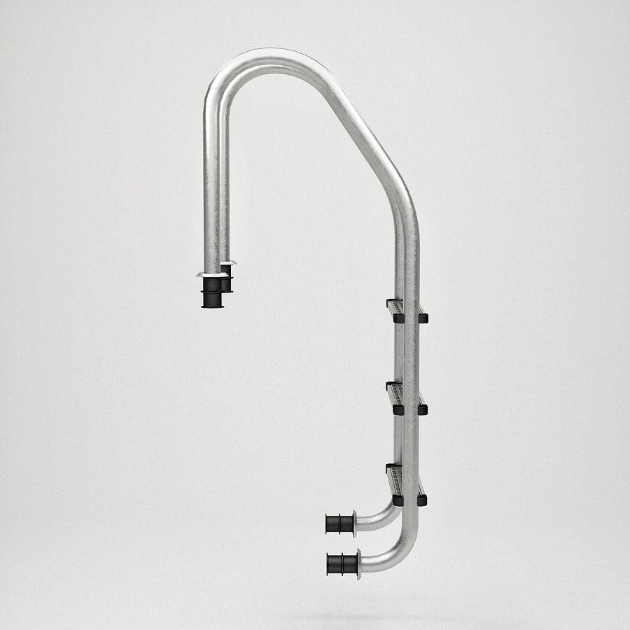 Escaleras de piscina royalty-free modelo 3d - Preview no. 11