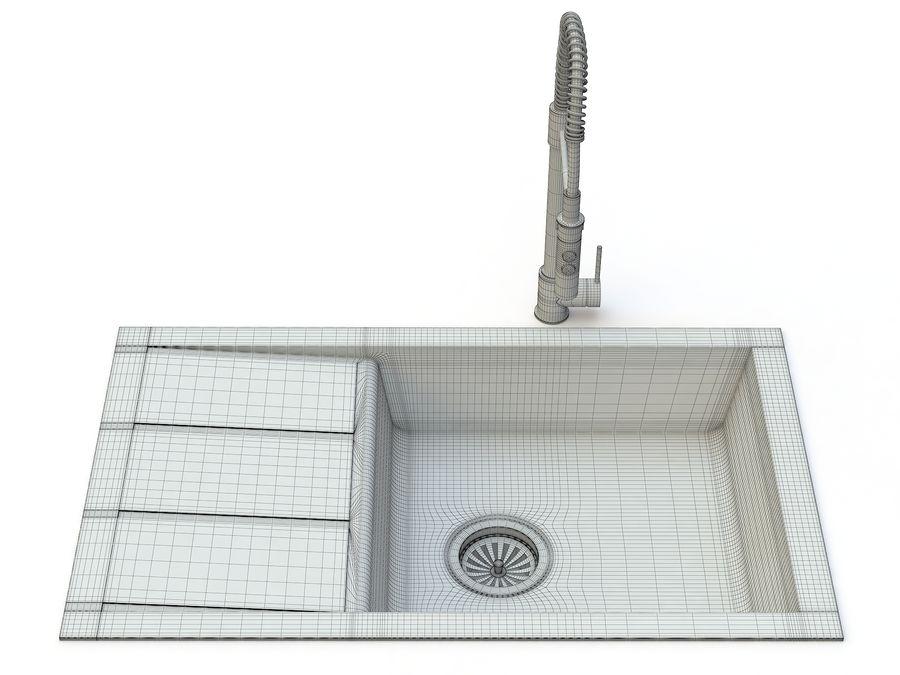 Lavello con rubinetto royalty-free 3d model - Preview no. 11