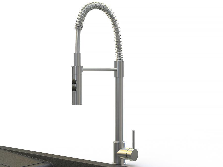 Lavello con rubinetto royalty-free 3d model - Preview no. 8
