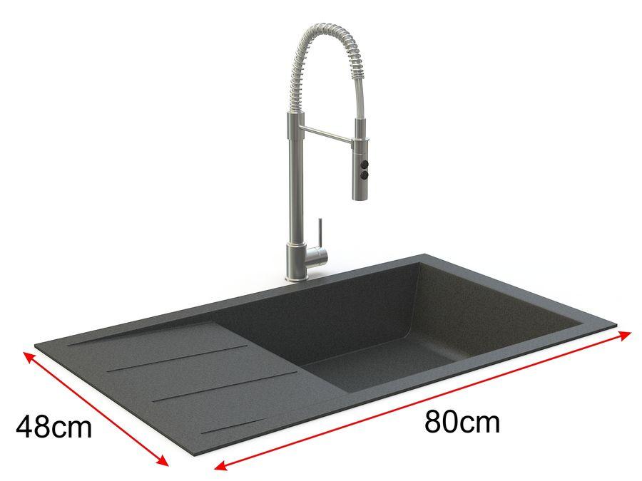 Lavello con rubinetto royalty-free 3d model - Preview no. 1