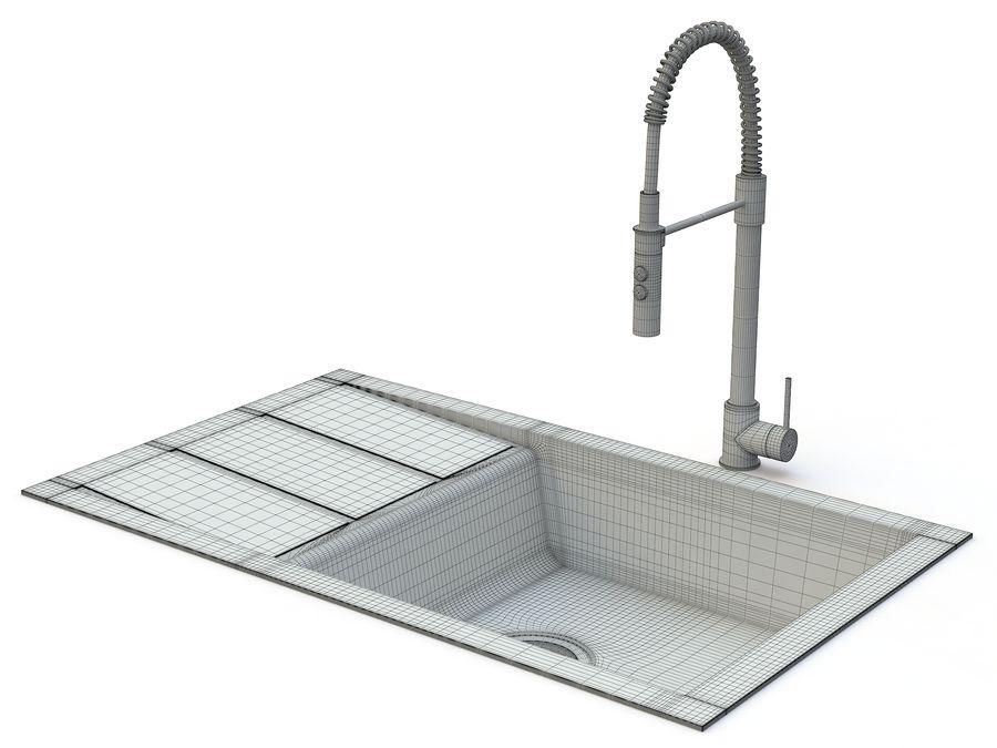 Lavello con rubinetto royalty-free 3d model - Preview no. 10