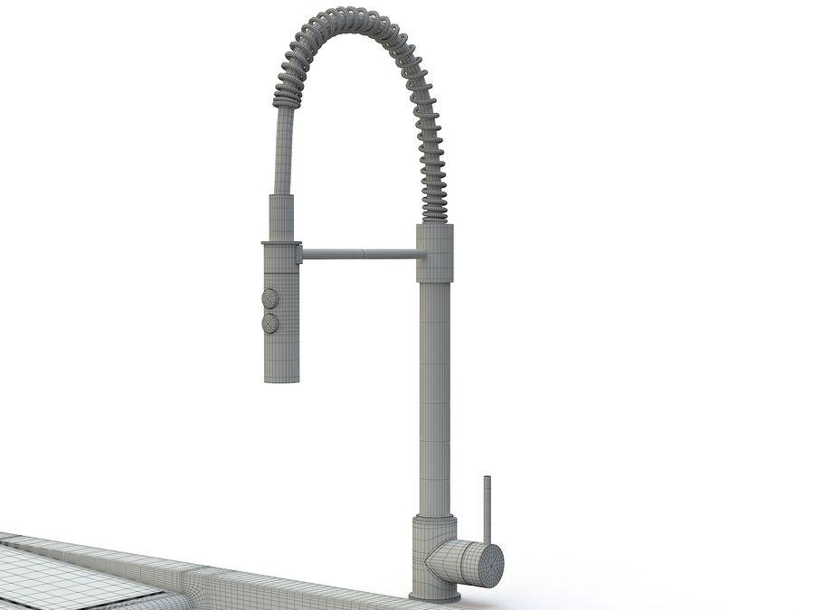 Lavello con rubinetto royalty-free 3d model - Preview no. 13