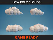 Nuages Low Poly Partie 01 3d model