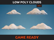 Nuages Low Poly Partie 2 3d model