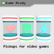 Pickup per videogiochi (salute, munizioni, potenza) 3d model