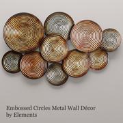 Decoração de parede de círculos (1) 3d model