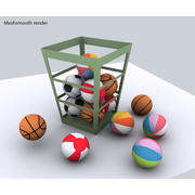 Balls - lowpoly 3d model