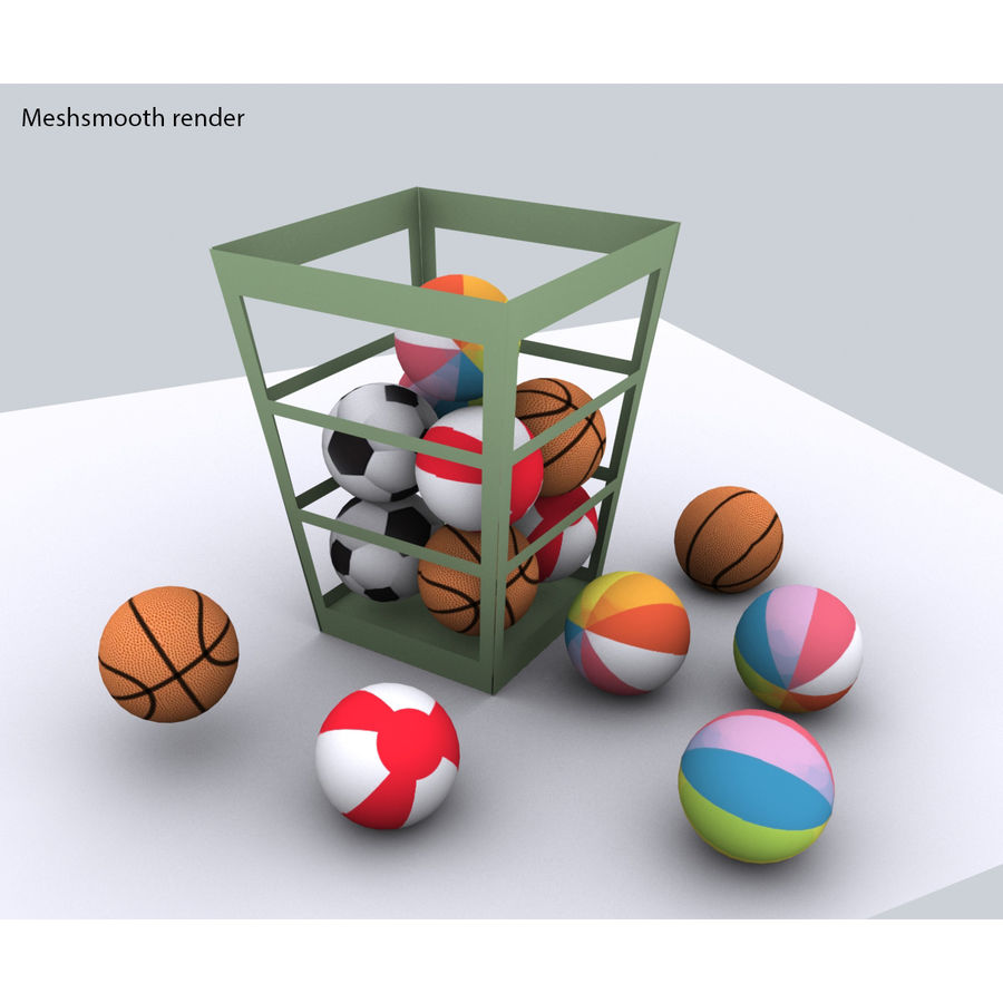 Balls - lowpoly royalty-free 3d model - Preview no. 1