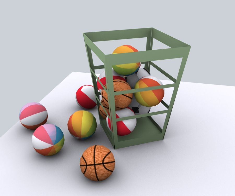 Balls - lowpoly royalty-free 3d model - Preview no. 4