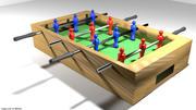 Аркадная игра - Футбольный стол 3d model