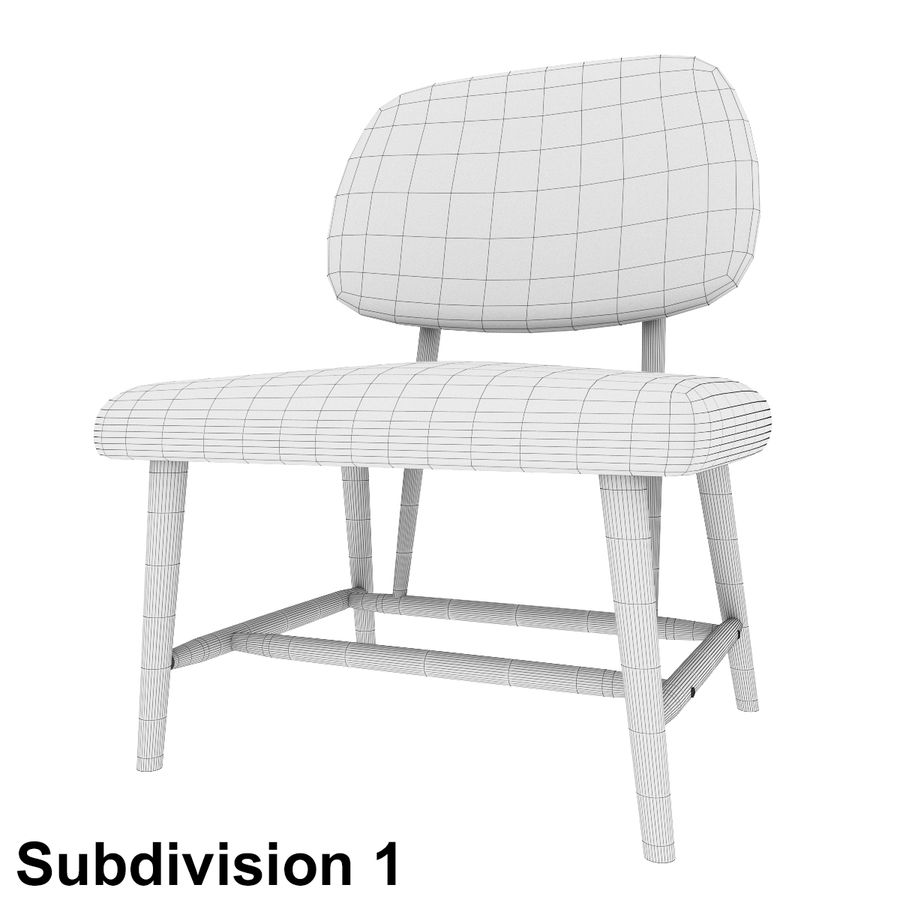 Chair 1 royalty-free 3d model - Preview no. 9
