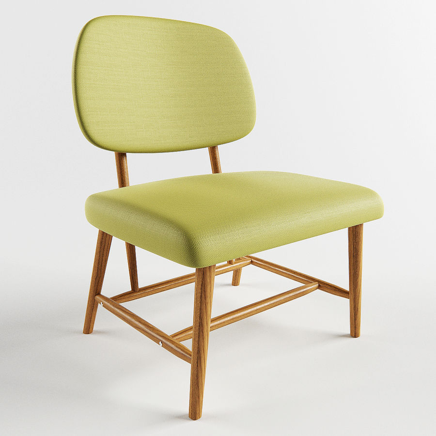 Chair 1 royalty-free 3d model - Preview no. 2