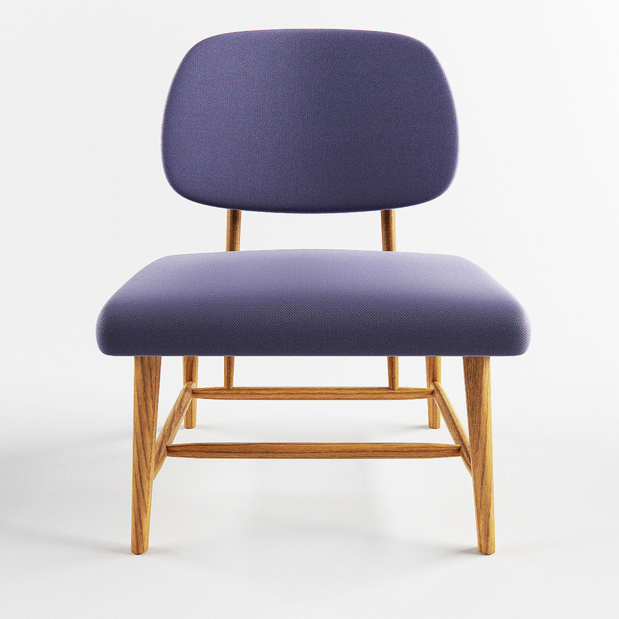 Chair 1 royalty-free 3d model - Preview no. 3