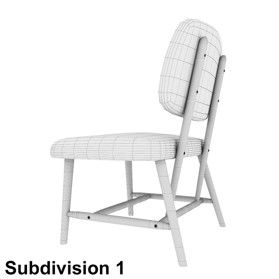 Chair 1 royalty-free 3d model - Preview no. 10