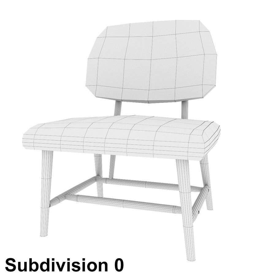 Chair 1 royalty-free 3d model - Preview no. 7