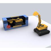 veicolo di costruzione dell'escavatore 3d model