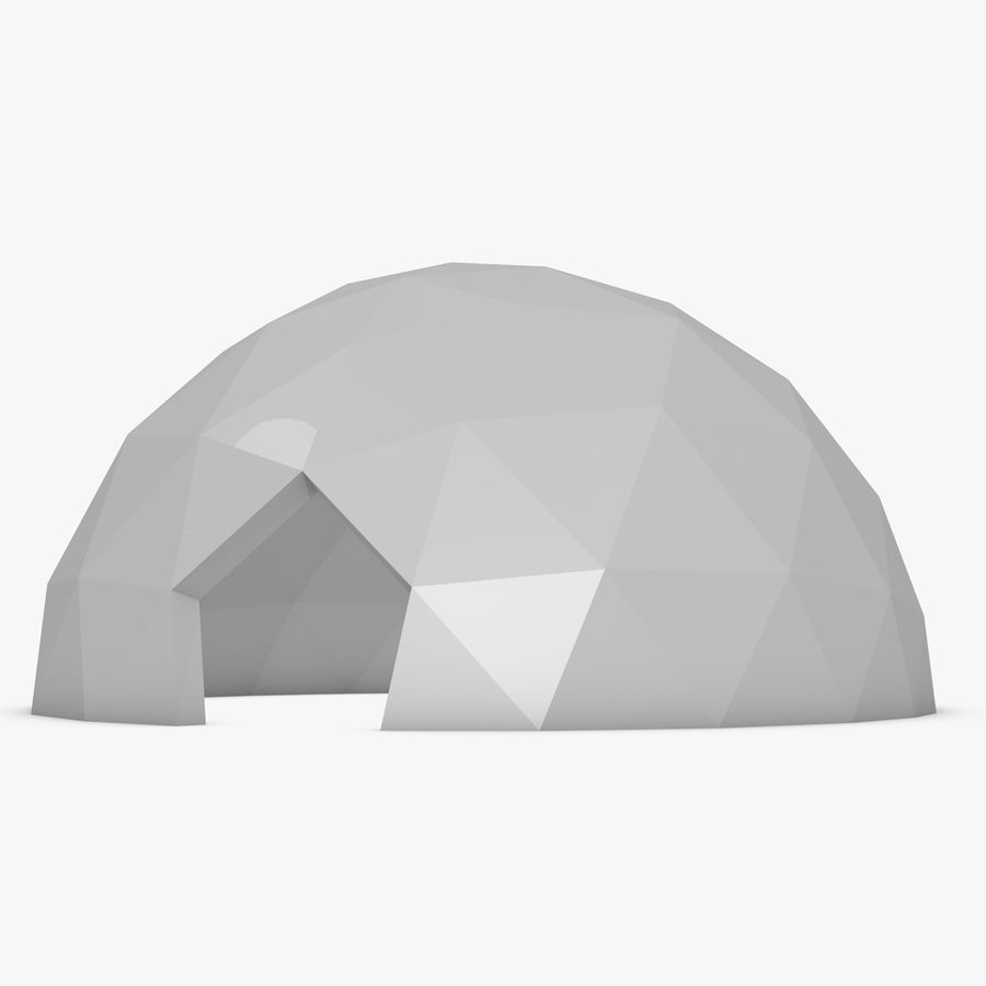 Geodesic Dome royalty-free 3d model - Preview no. 7