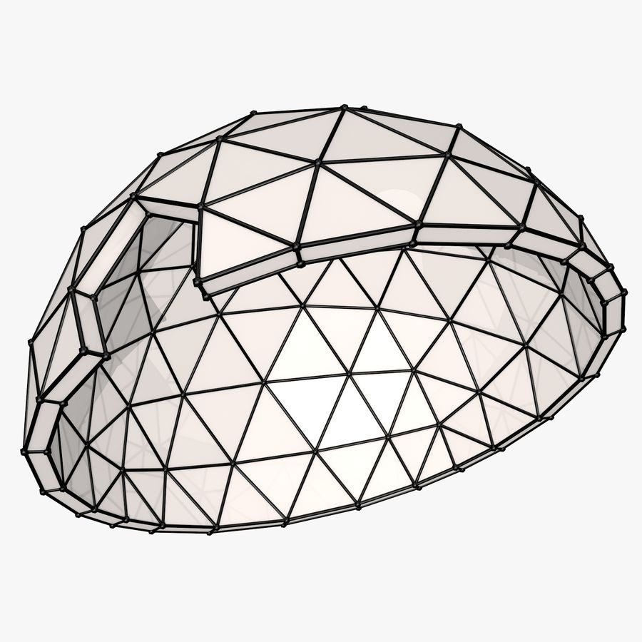 Geodesic Dome royalty-free 3d model - Preview no. 5