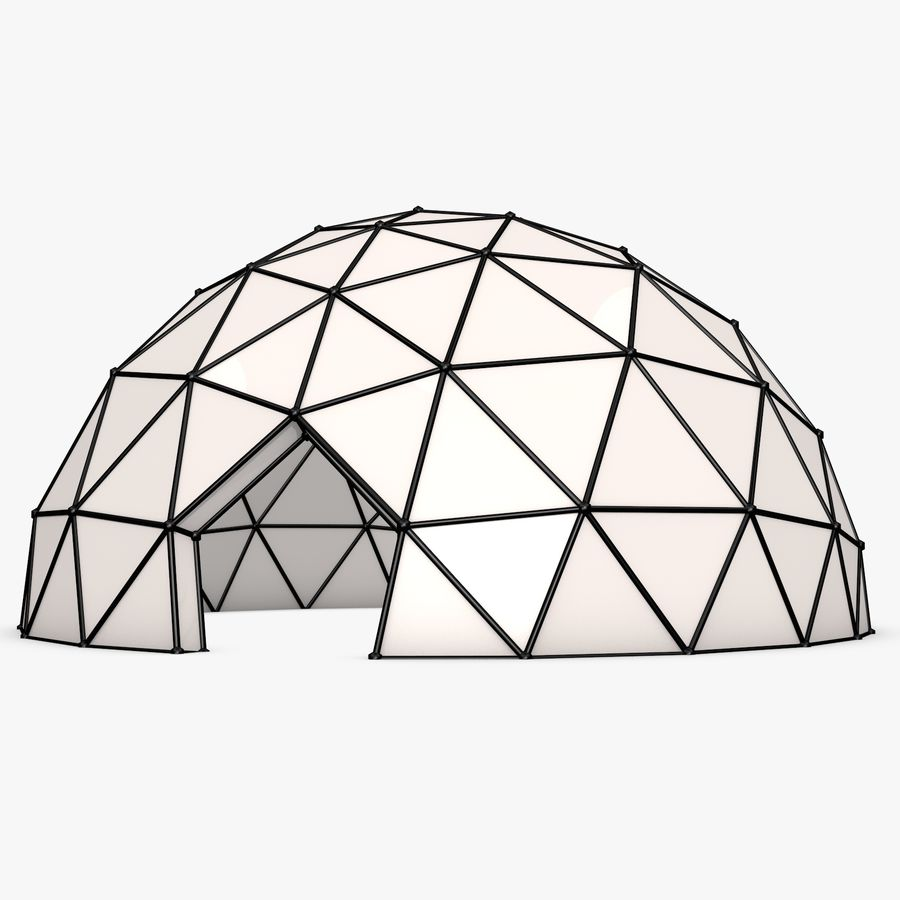 Geodesic Dome royalty-free 3d model - Preview no. 1