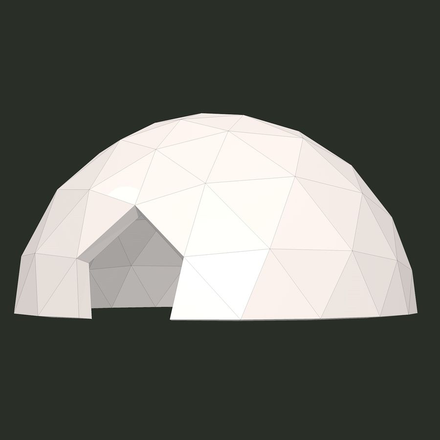 Geodesic Dome royalty-free 3d model - Preview no. 9