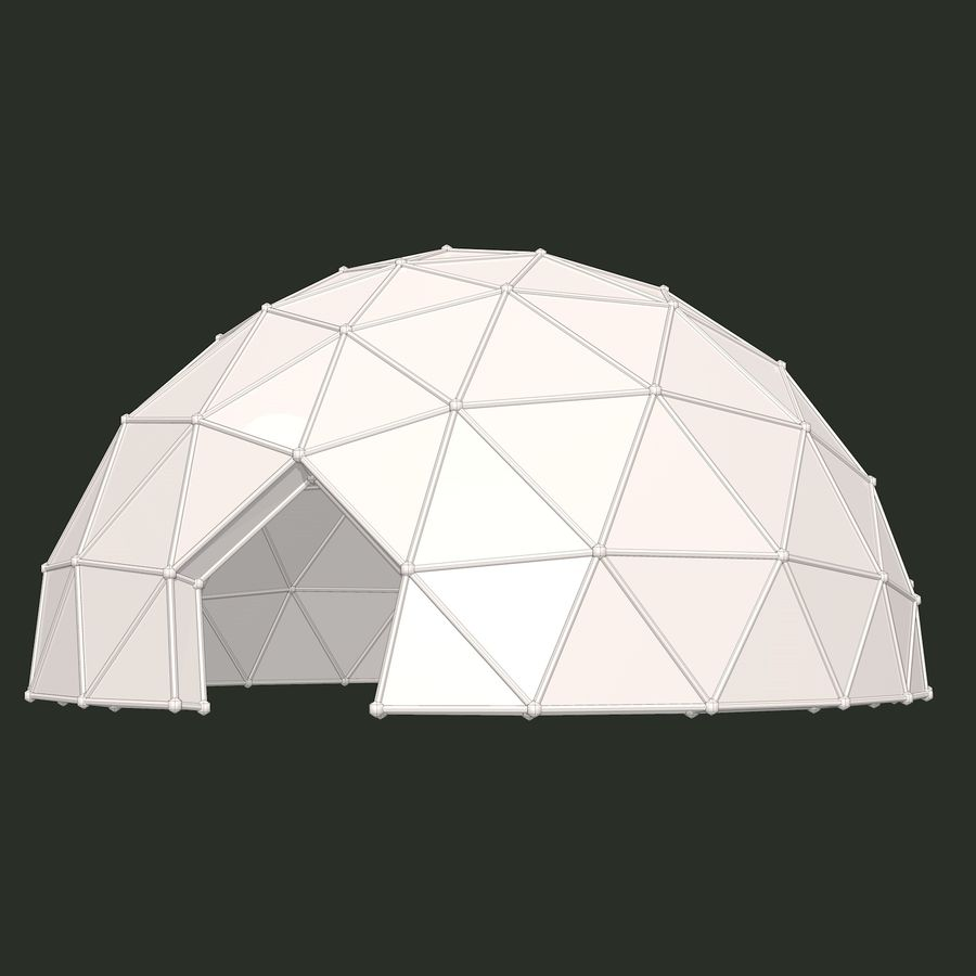 Geodesic Dome royalty-free 3d model - Preview no. 8