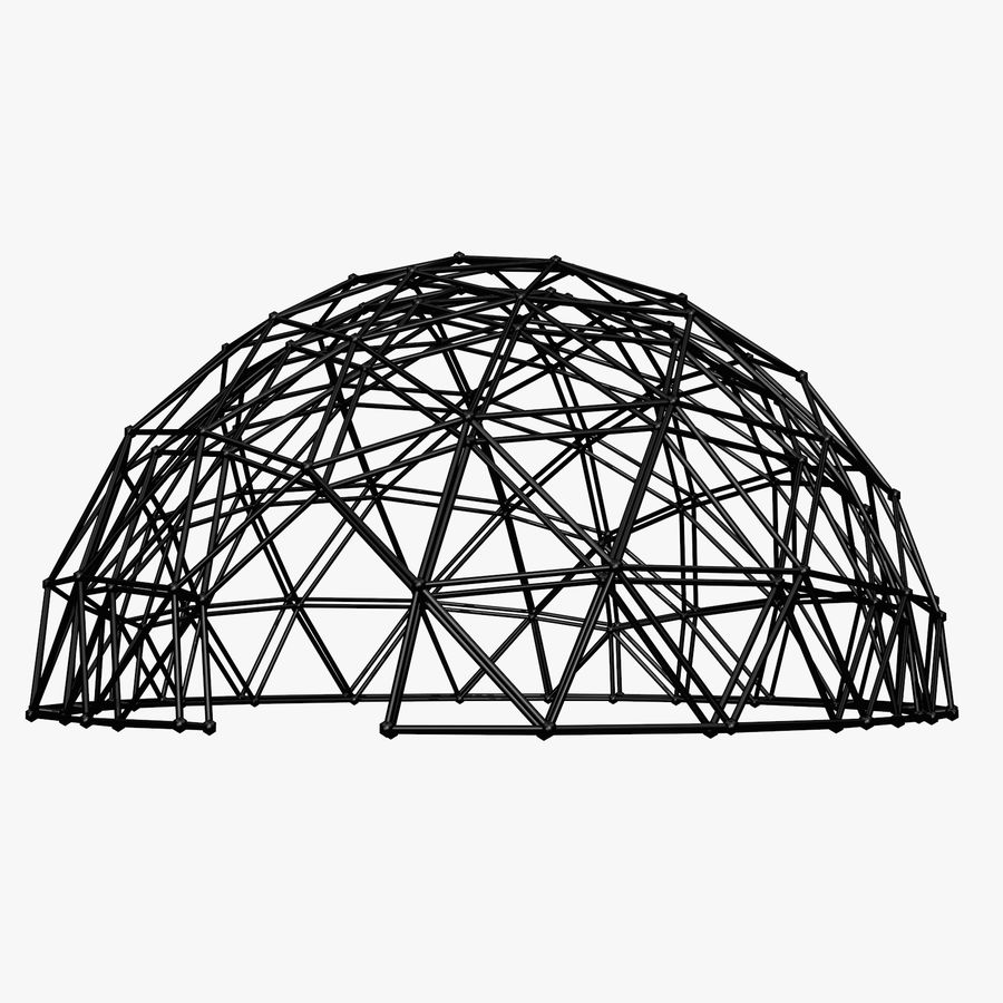 Geodesic Dome royalty-free 3d model - Preview no. 6