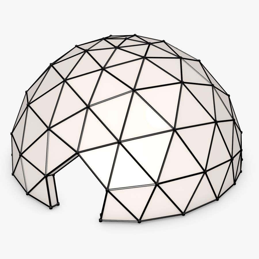 Geodesic Dome royalty-free 3d model - Preview no. 4