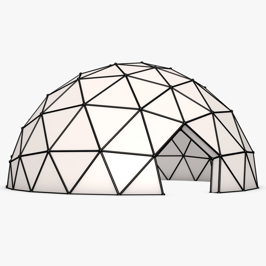 Geodesic Dome royalty-free 3d model - Preview no. 2