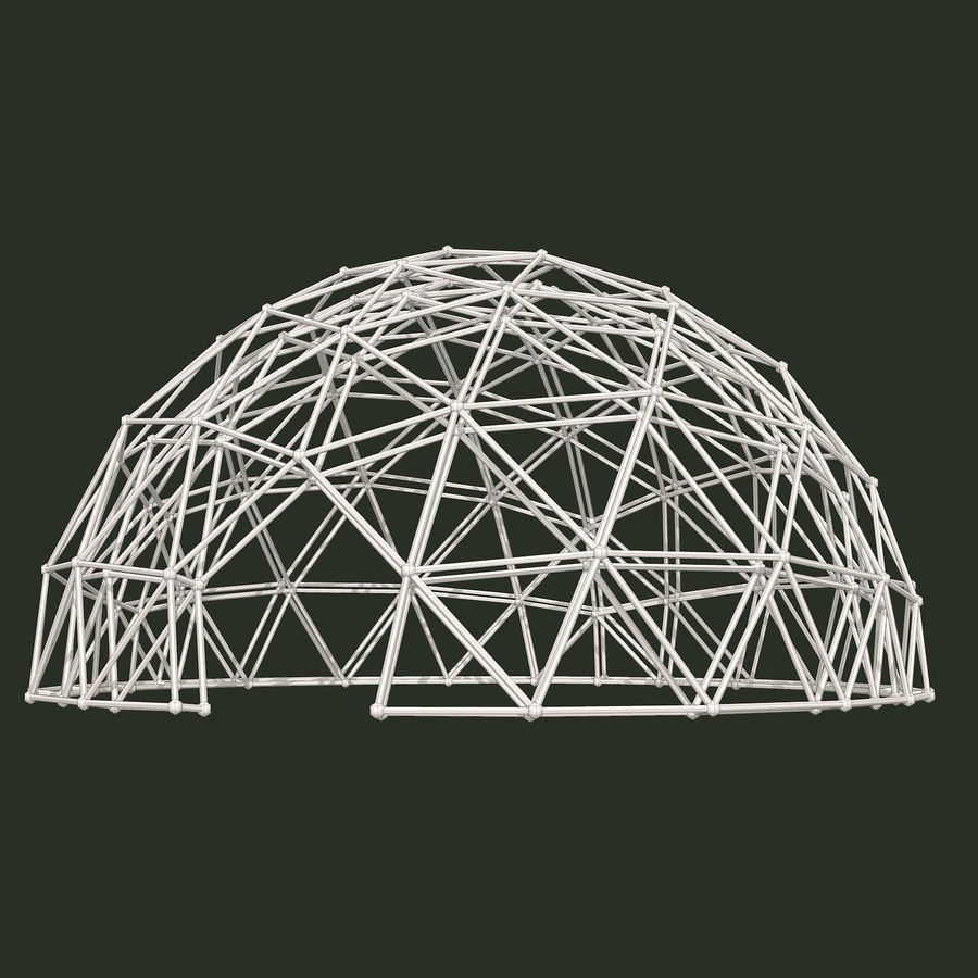 Geodesic Dome royalty-free 3d model - Preview no. 10
