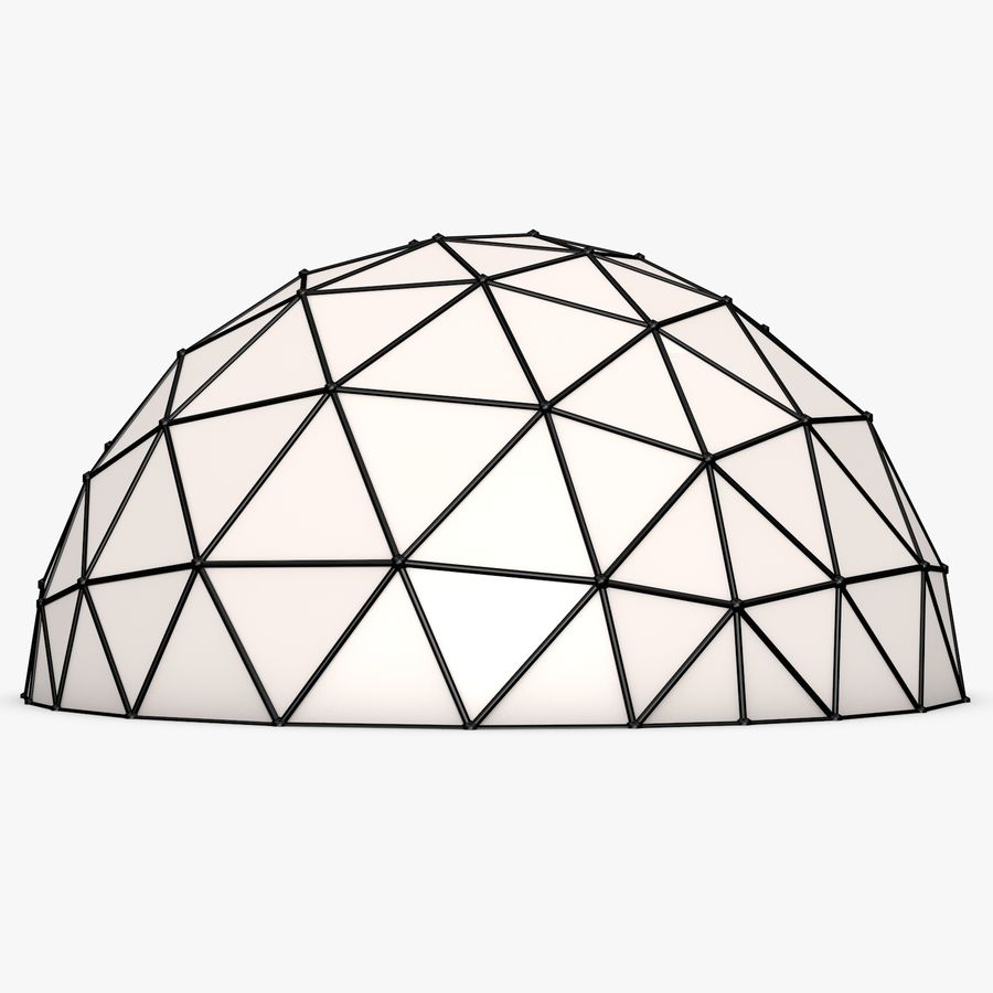 Geodesic Dome royalty-free 3d model - Preview no. 3