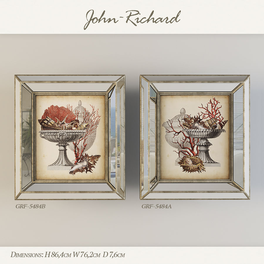 Paintings John Richard royalty-free 3d model - Preview no. 1