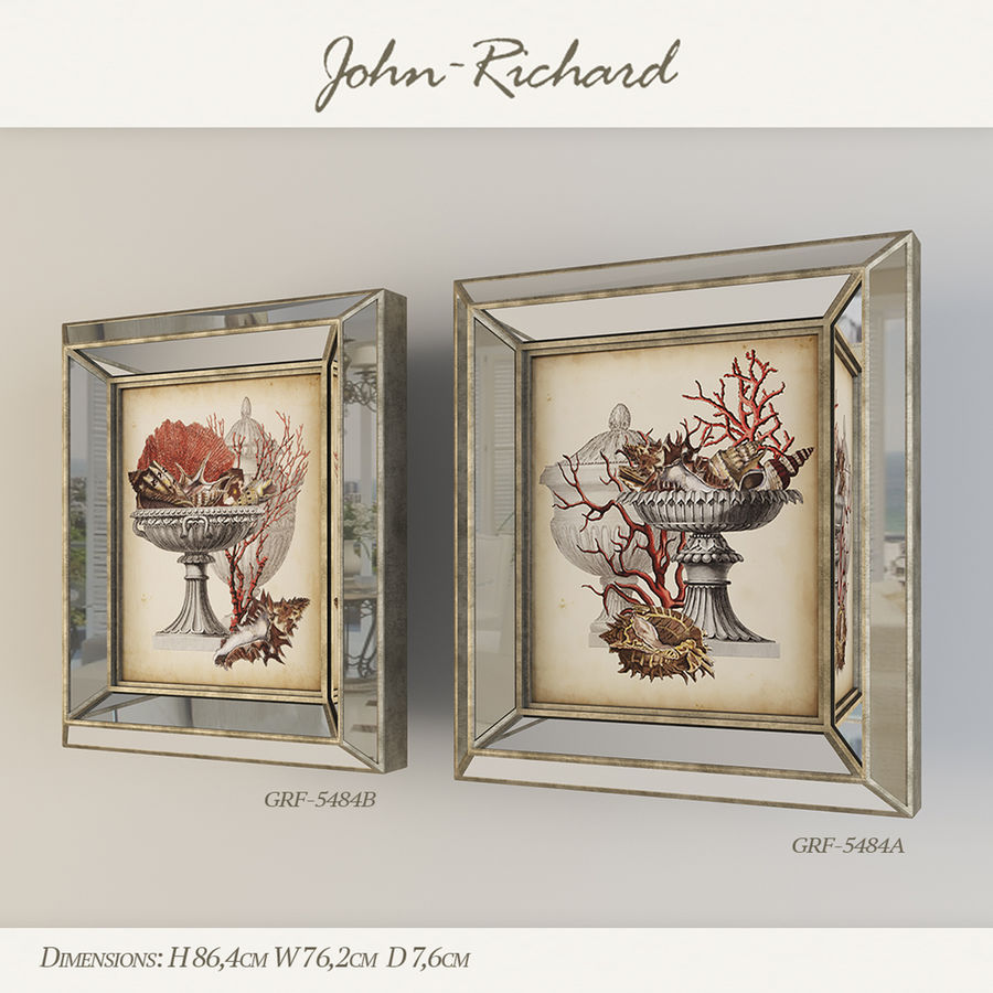 Paintings John Richard royalty-free 3d model - Preview no. 2