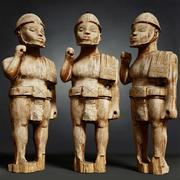 Houten soldaat primitieve standbeeld scannen 3d model