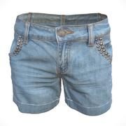 Jeans Short Decorated 3d model