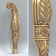 Мебельная ножка 012 3d model