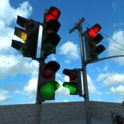 светофор установлен 3d model