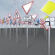 pakiet znaków drogowych 3d model