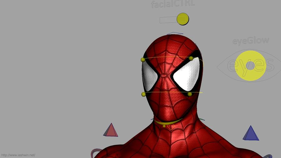 Spider-Man (Rig) royalty-free 3d model - Preview no. 23