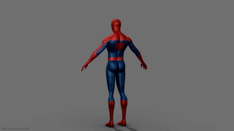 Spider-Man (Rig) royalty-free 3d model - Preview no. 6