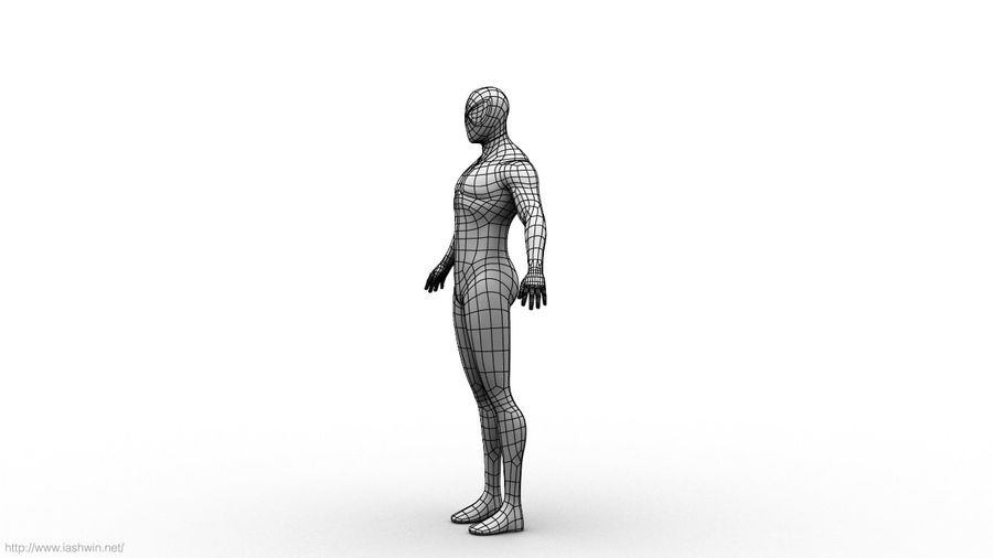 Spider-Man (Rig) royalty-free 3d model - Preview no. 19