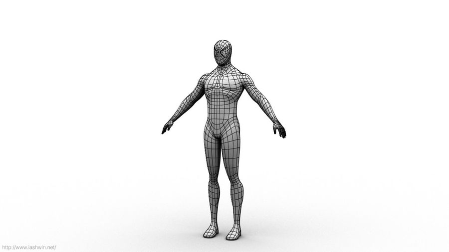 Spider-Man (Rig) royalty-free 3d model - Preview no. 9