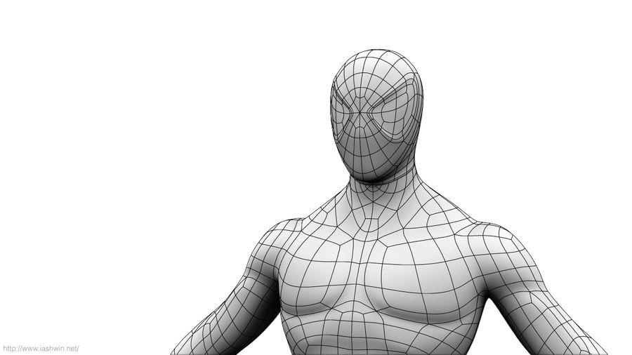 Spider-Man (Rig) royalty-free 3d model - Preview no. 21