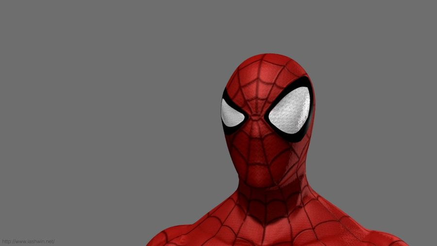 Spider-Man (Rig) royalty-free 3d model - Preview no. 1
