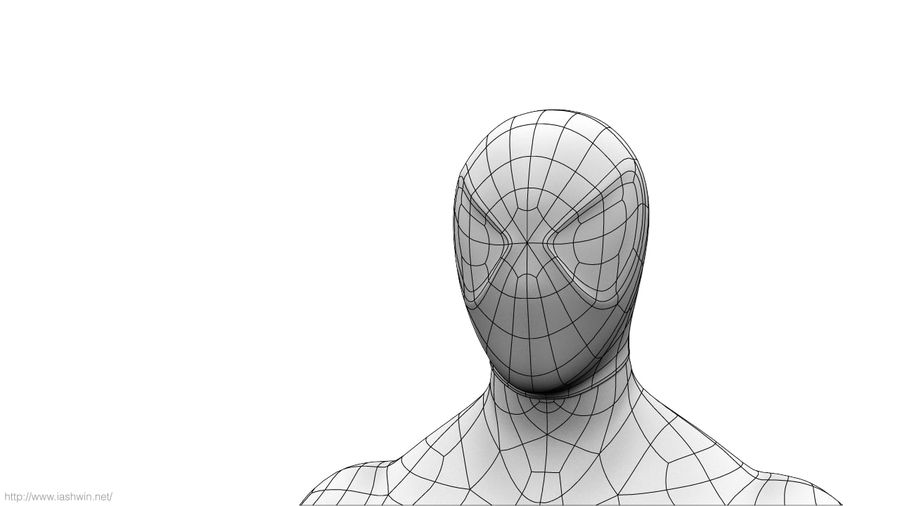 Spider-Man (Rig) royalty-free 3d model - Preview no. 8