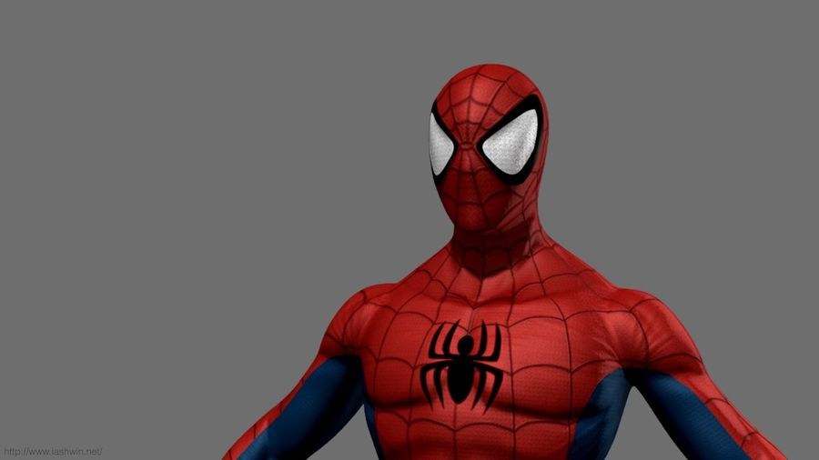 Spider-Man (Rig) royalty-free 3d model - Preview no. 7