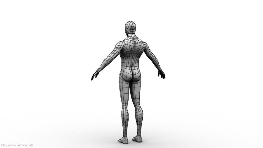 Spider-Man (Rig) royalty-free 3d model - Preview no. 20